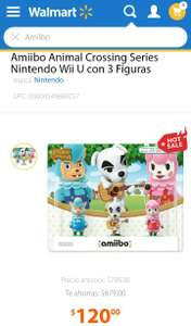 Hot Sale 2017 Walmart: Pack 3 Amiibo Animal Crossing Envio gratis