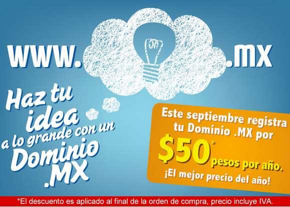 Dominios .mx desde $50