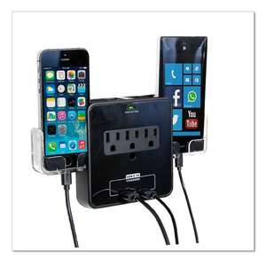 Hot Sale 2017 Amazon: RND Power Cargador pared 3 AC y 2 USB Con base (Primer 6 - 9 dias)
