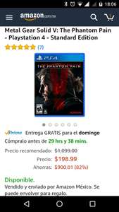 Hot Sale 2017 en Amazon: Metal Gear Solid V: PHANTOM PAIN para PS4