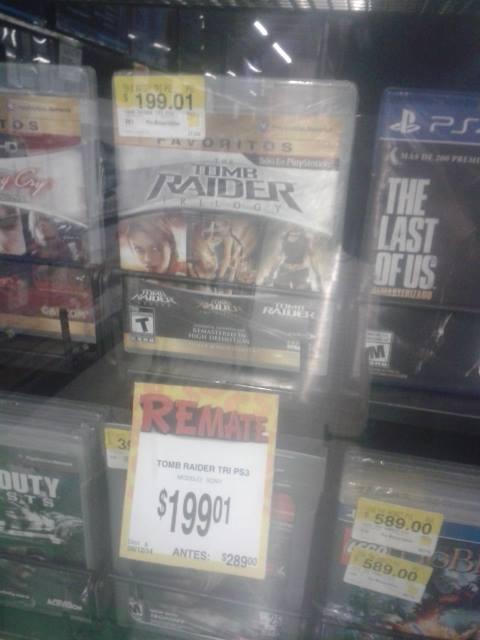 Bodega Aurrerá: Tomb Raider Trilogy PS3 $199