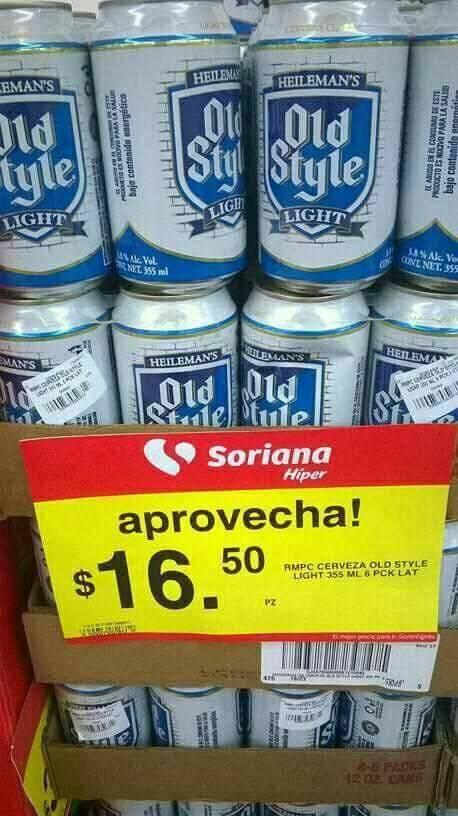 Soriana Super: Six de cerveza en lata a 16.50