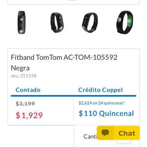 Hot Sale MX 2017 Coppel Online: Fitness Tracker TomTom $1,929 MXN Pago de Contado