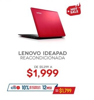 Hot Sale 2017 en Elektra: Lenovo Ideapad reacondicionada $1,999 ó menos con cupón