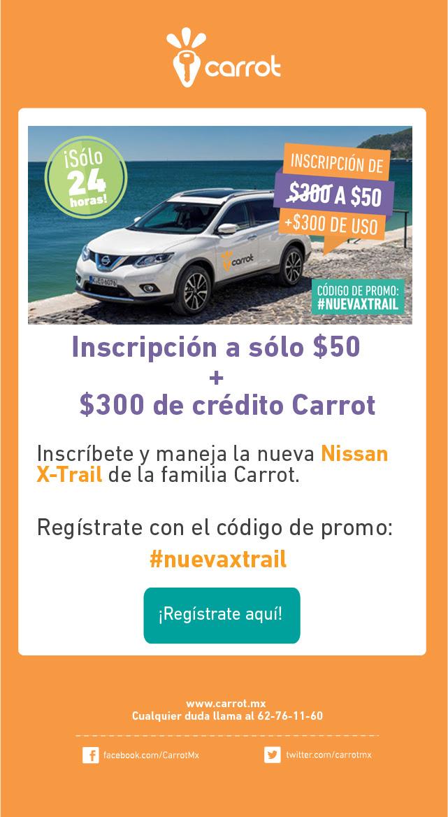 Carrot: inscripción $50 y $300 en crédito gratis