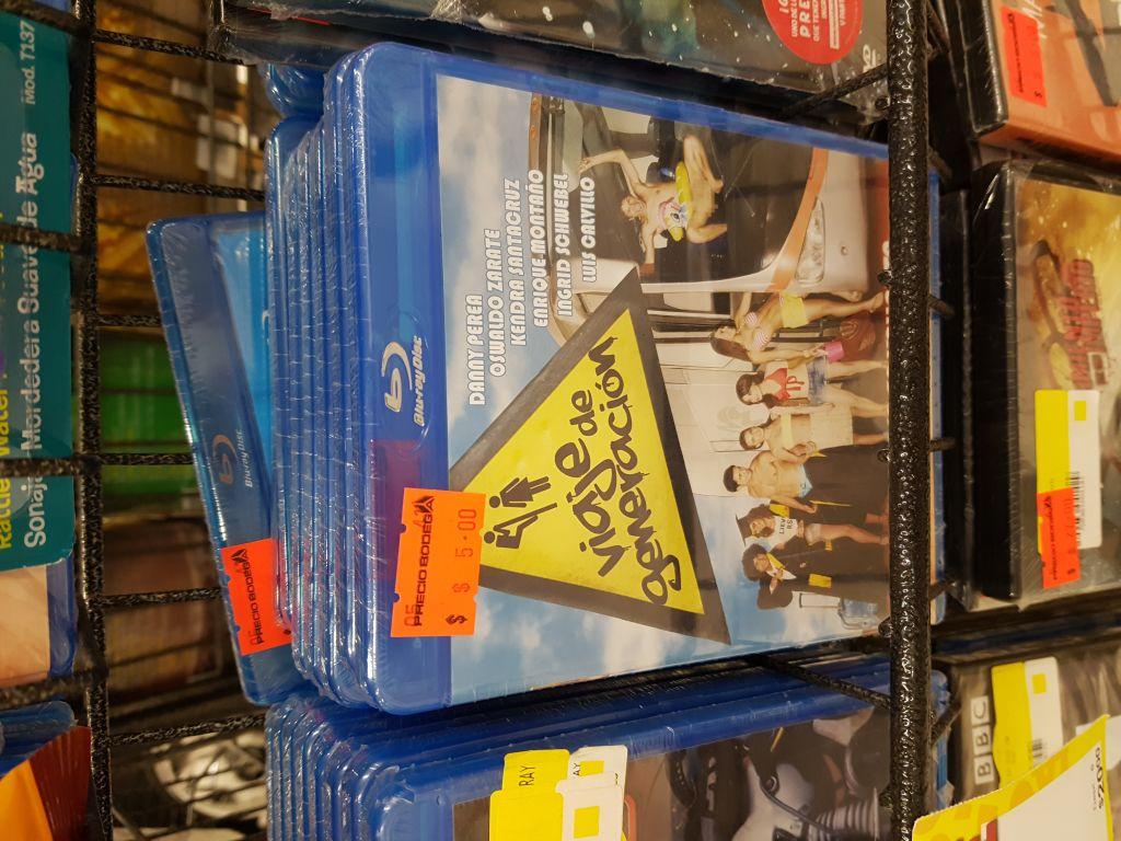 Bodega Aurrerá: Películas Blu-Ray en $5 pesitos