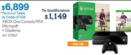 Sam's Club: Xbox One con FIFA 15 desde $5,542 después de bonificaciones