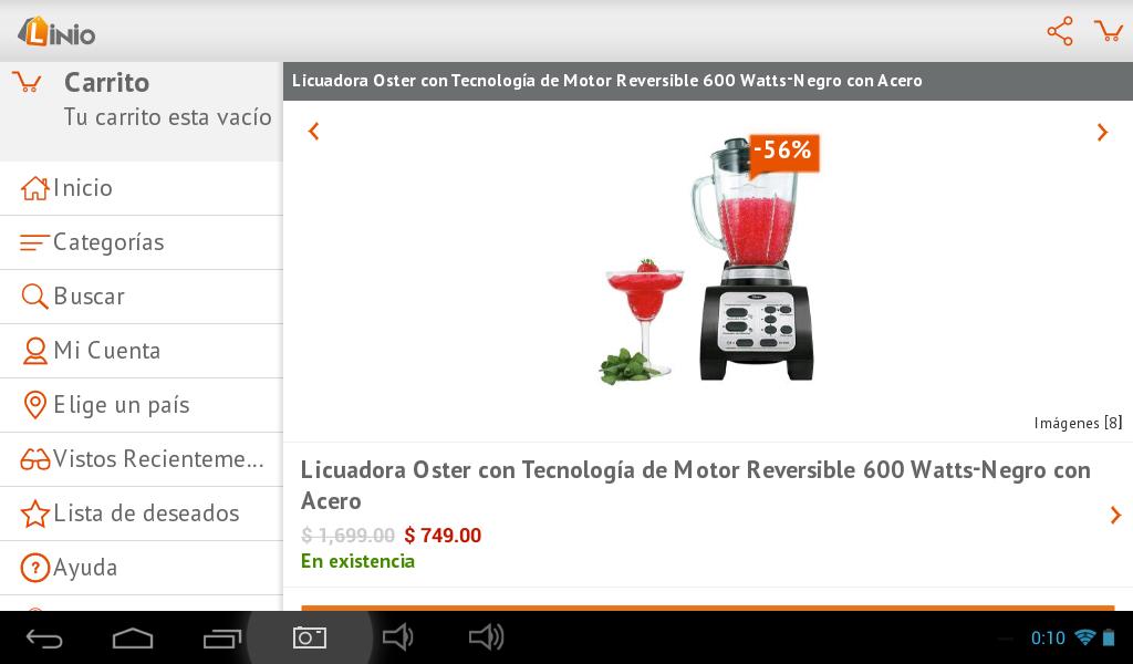 Linio: licuadora Oster con motor reversible $674 y envío gratis