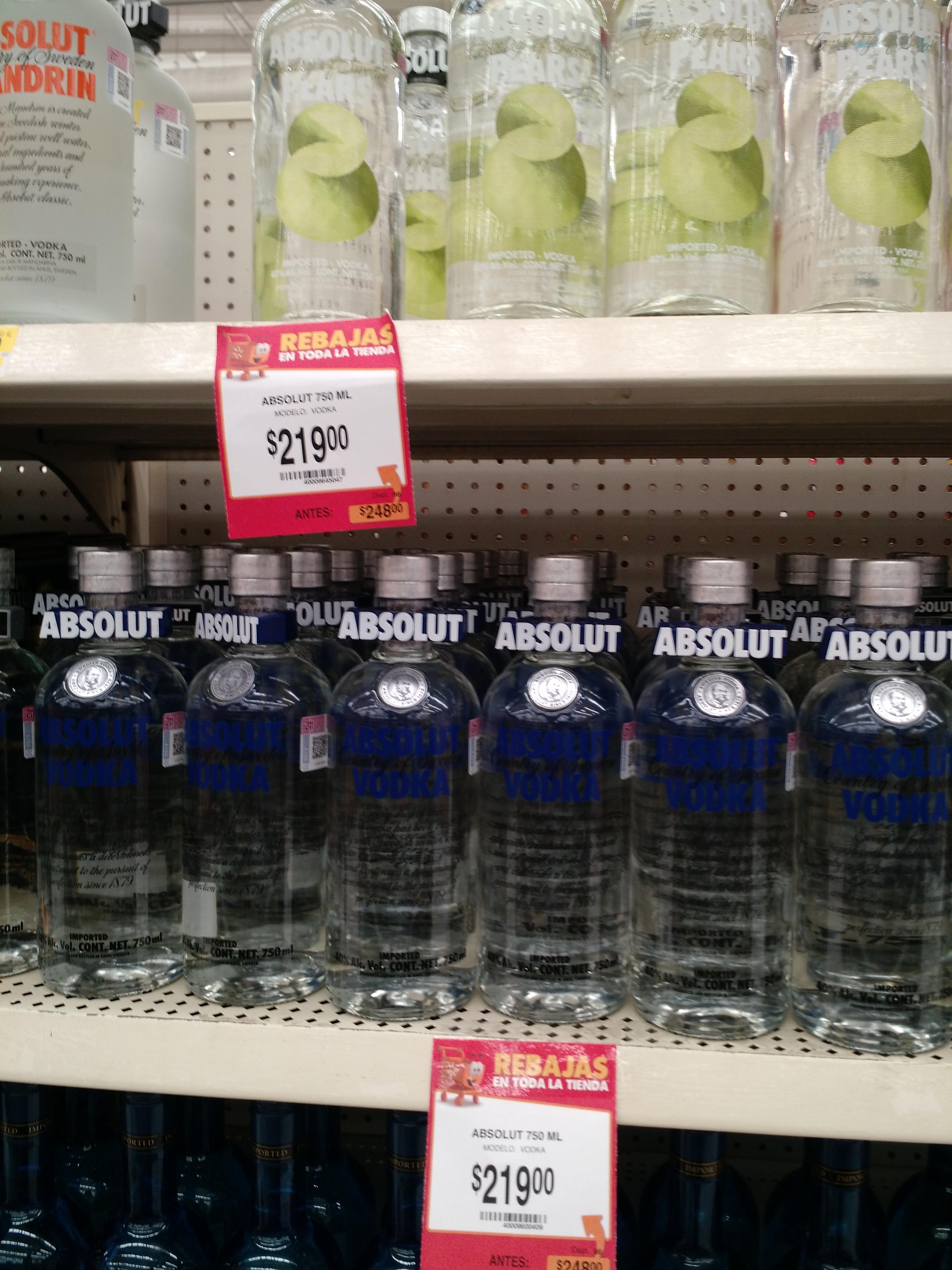 Walmart: Absolut Normal y Sabores $219. precio normal $249