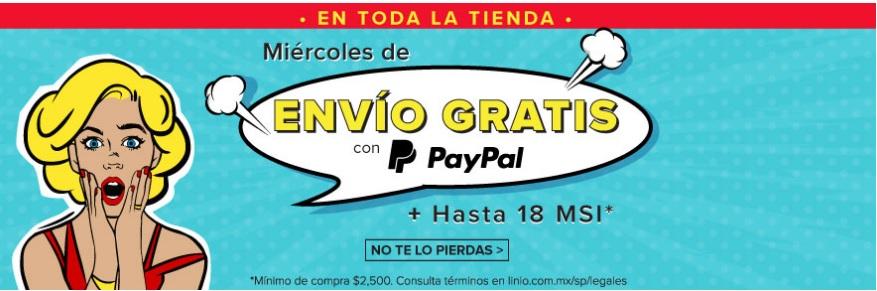Linio: envio gratis con Paypal (solo hoy miercoles 7Junio)
