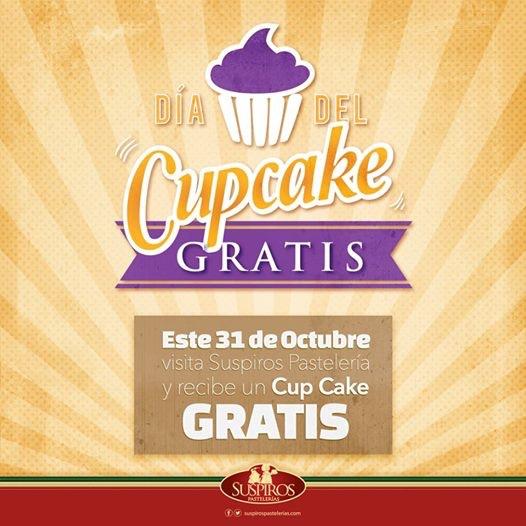 Pastelerías Suspiros: cupcake gratis el 31 de octubre