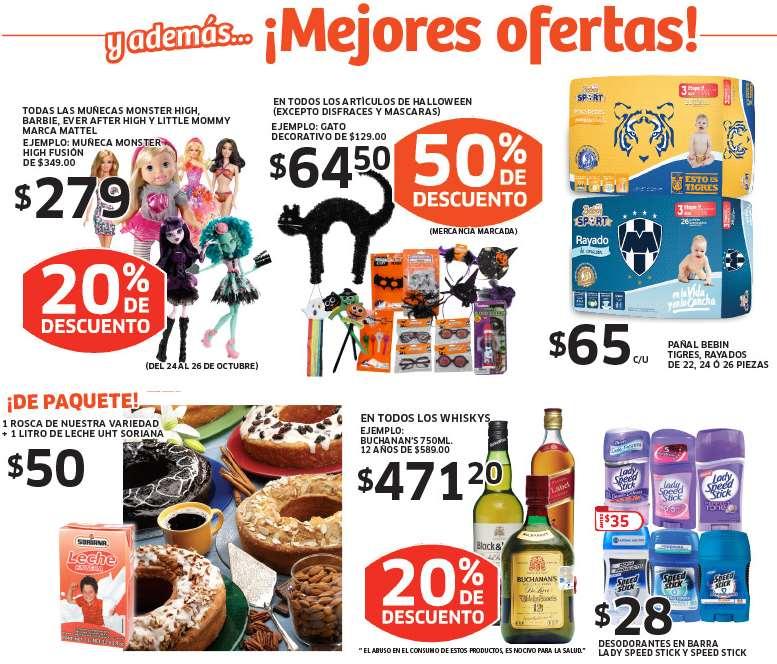 Soriana: 20% de descuento en muñecas y whiskys, pollo entero $17 el kilo y más