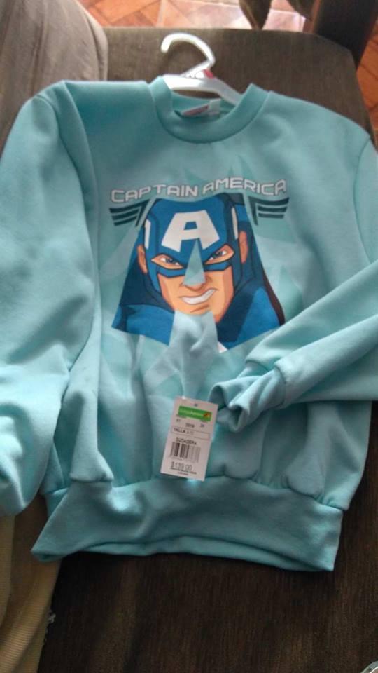 Bodega Aurrerá: SUDADERA Captain America