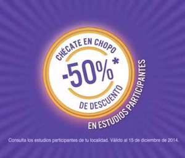 Laboratorios Chopo: 50% de descuento en estudios participantes