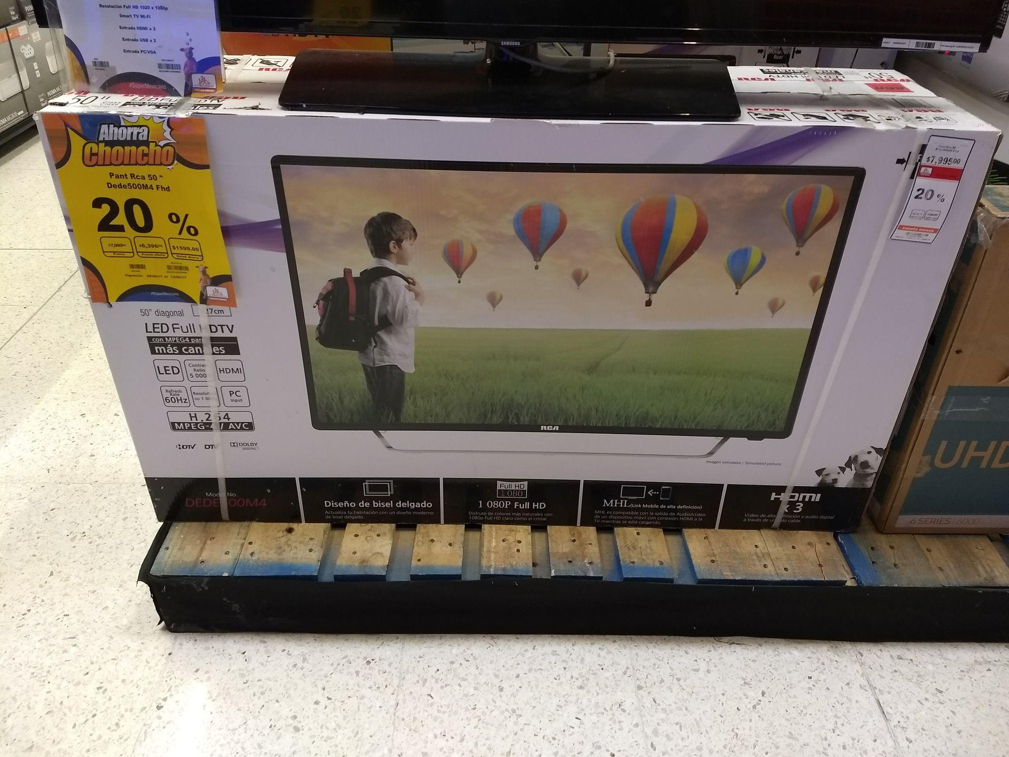 """Chedraui: pantalla RCA 50"""" LED Full HD 1080p 60Hz"""