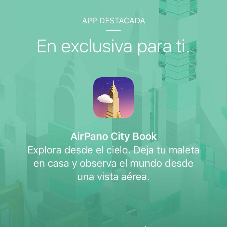 AppStore: AirPano City Book Gratis! (Desde la app de Apple Store)