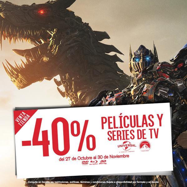 Blockbuster: 40% de descuento en películas y series de Universal y Paramount