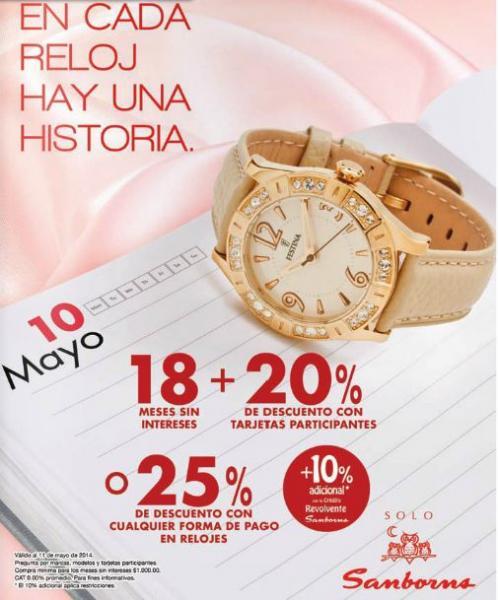 Sanborns: 25% de descuento en relojes