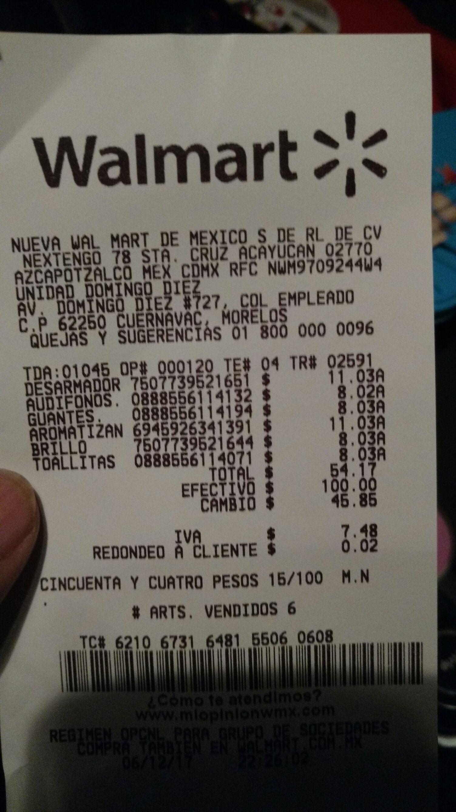 Walmart D Diez: Liquidaciones varias (ej. Desarmador a $12.03)
