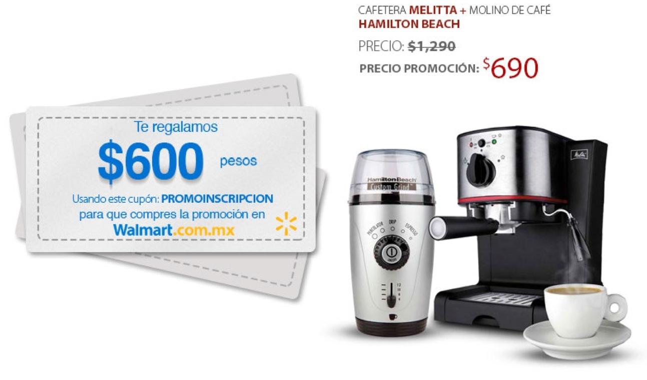 Walmart: Cafetera Melitta + Molino de café Hamilton Beach $690