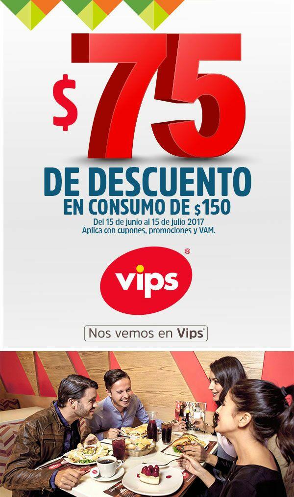 Vips: $75 de descuento en consumo de $150. solo usuarios Wow Rewards seleccionados