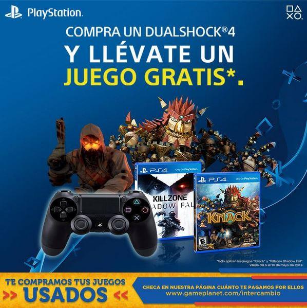 Game Planet: gratis Killzone Showdow Fall o Knack para PS4 comprando control