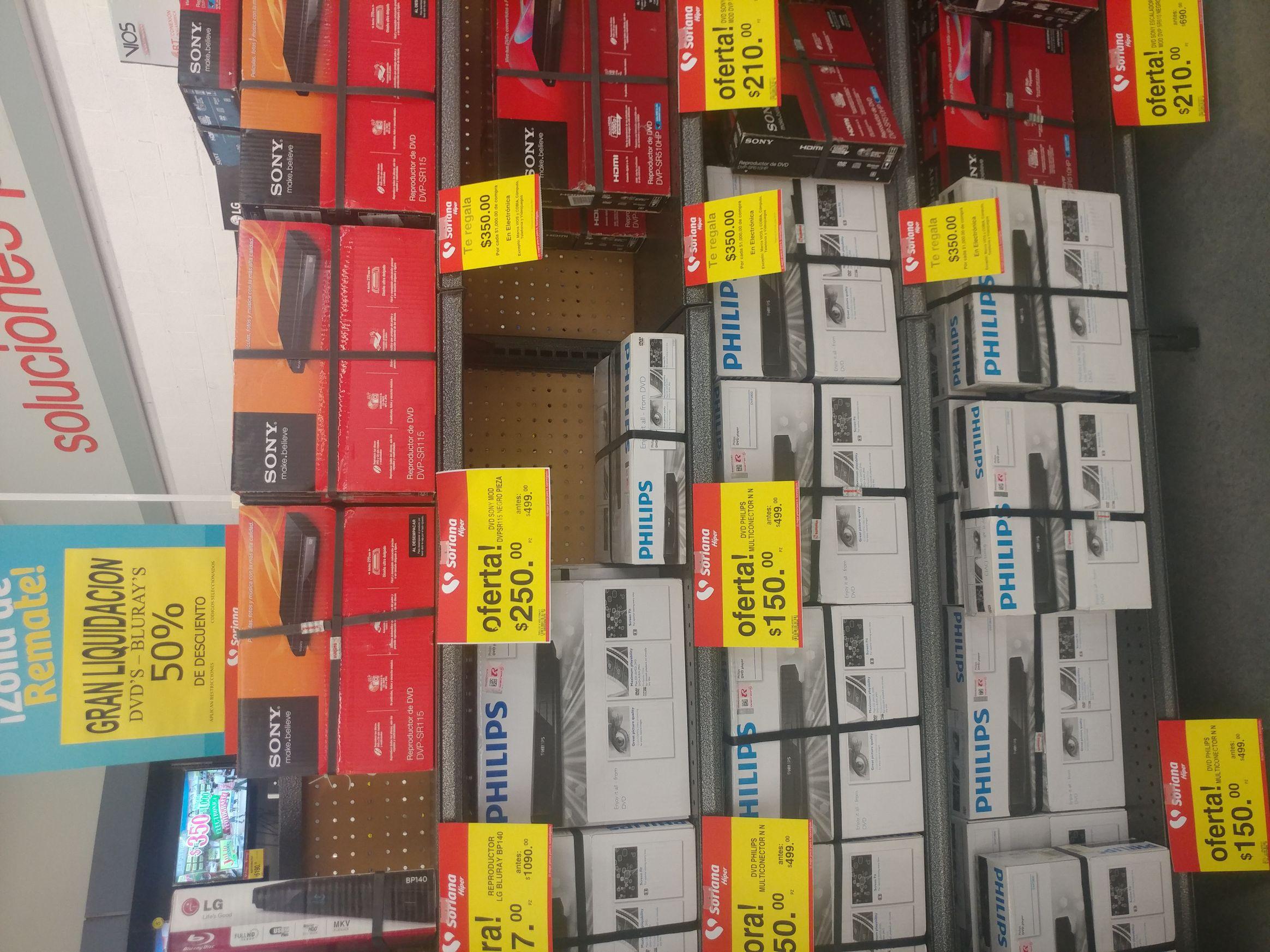 Soriana: Liquidaciónes DVD y Blu-ray (ej. Dvd Philips a $150)
