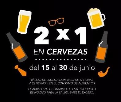 Toks: 2x1 en cervezas con el consumo de alimentos de 5 a 10pm