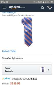 Amazon: Corbata Tommy Hilfiger