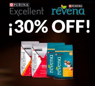 Petsy: Purina Excellent y Revena 30%+10%+10% Descuento+Envío Gratis