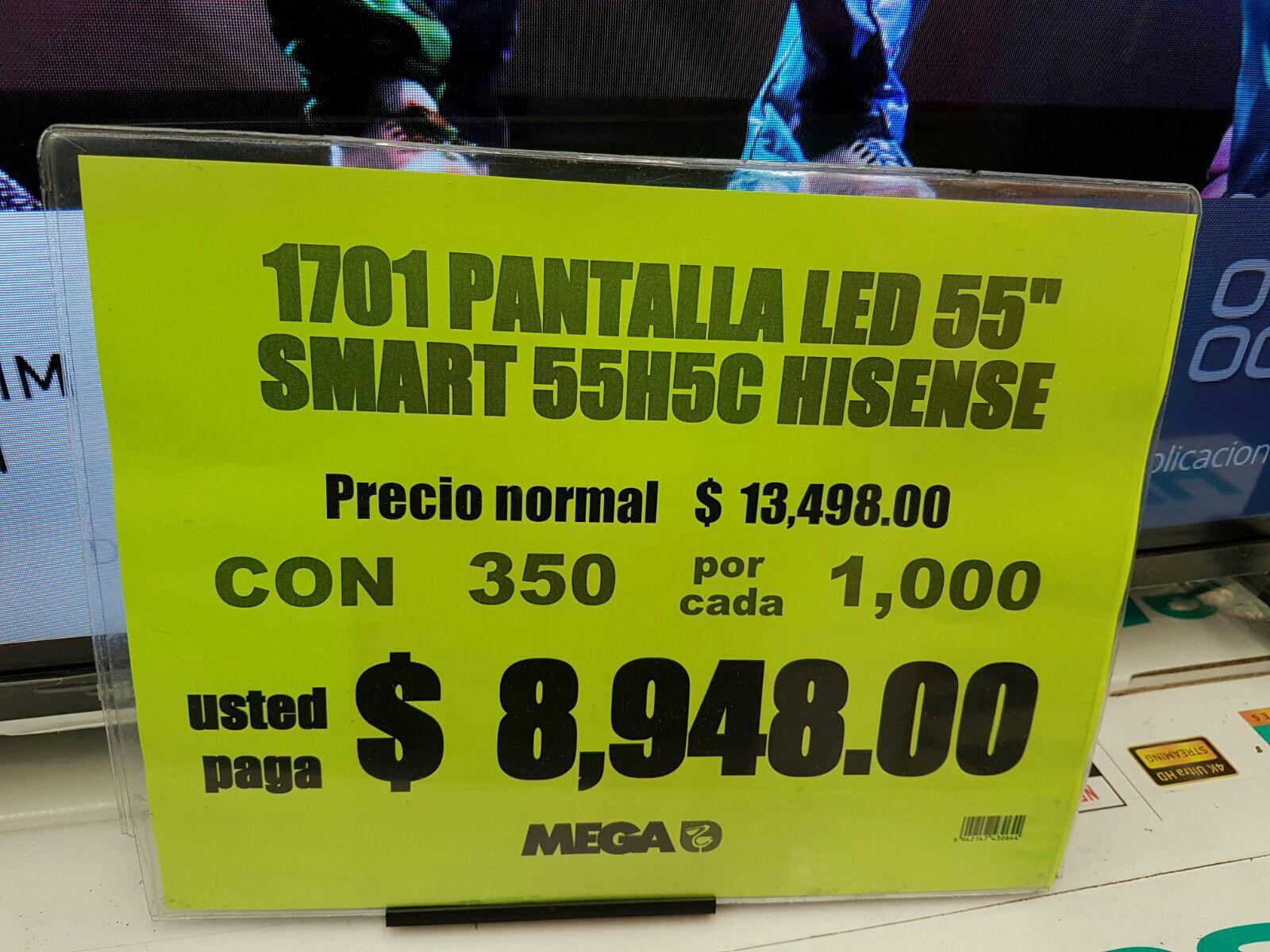 Julio Regalado en Comercial Mexicana Xalapa: pantalla Hisense 55HC a $8,948