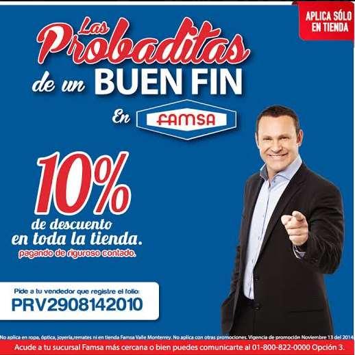 """Famsa: más """"probaditas"""" y cupón del Buen Fin 2014"""