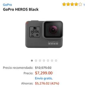 Amazon: Gopro Hero 5 Black (Vendido por EnRemate)