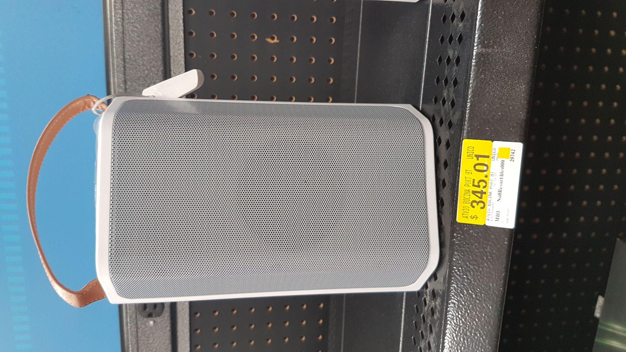Walmart Coatzacoalcos: Bocinas portátiles en liquidación a $345.01 y más