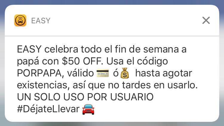 Easy Taxi: código de $50 de descuento, un solo viaje