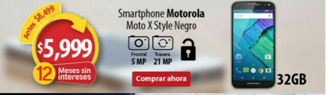 Walmart en línea: Moto X Style Negro 32 GB Desbloqueado