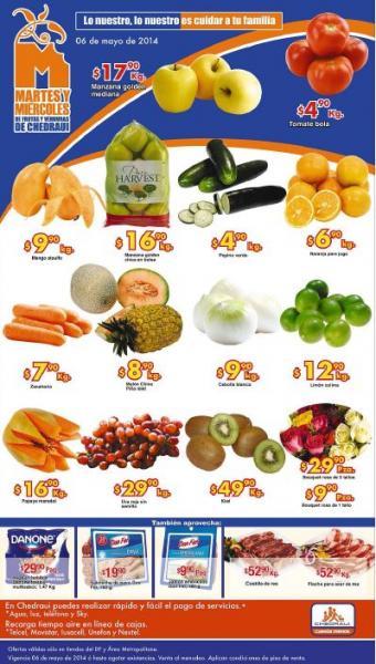 Ofertas de frutas y verduras en Chedraui 6 y 7 de mayo