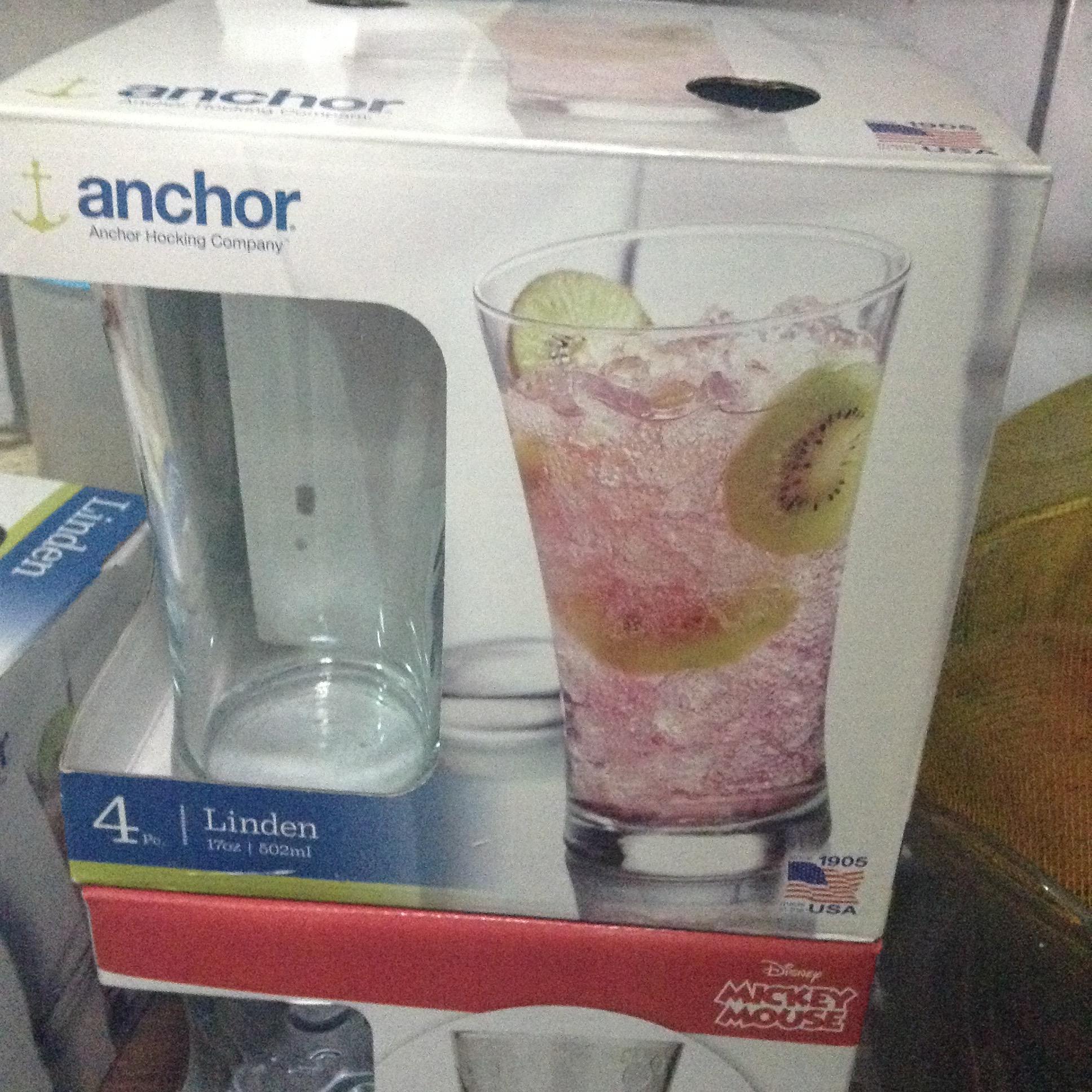Walmart Escobedo Norte: Juego de 4 Vasos anchor a $17.02