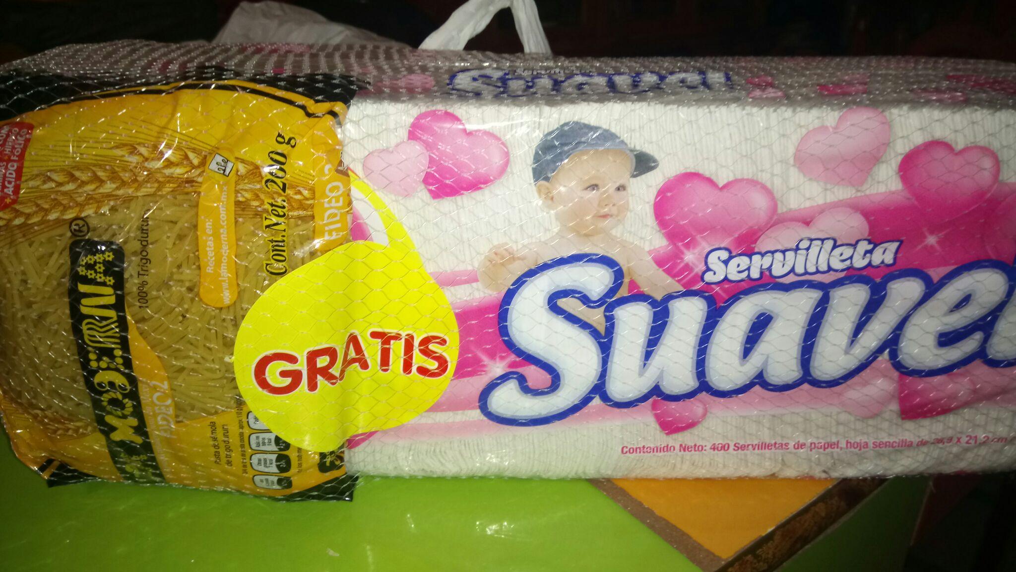 Comercial Mexicana: servilletas Suavel al 2 por 1 1/2