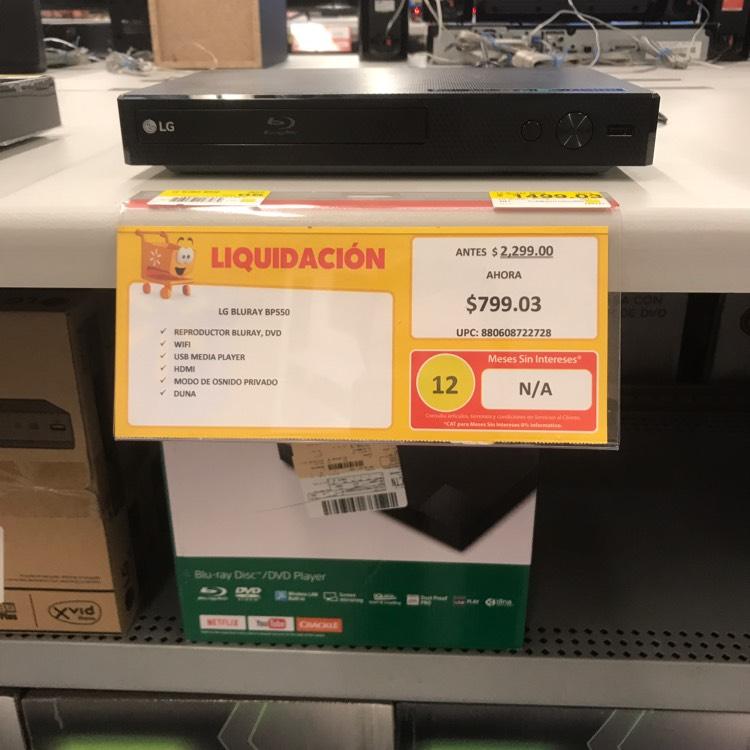 Walmart: reprodctor Blu-ray LG BP550 a $799.03