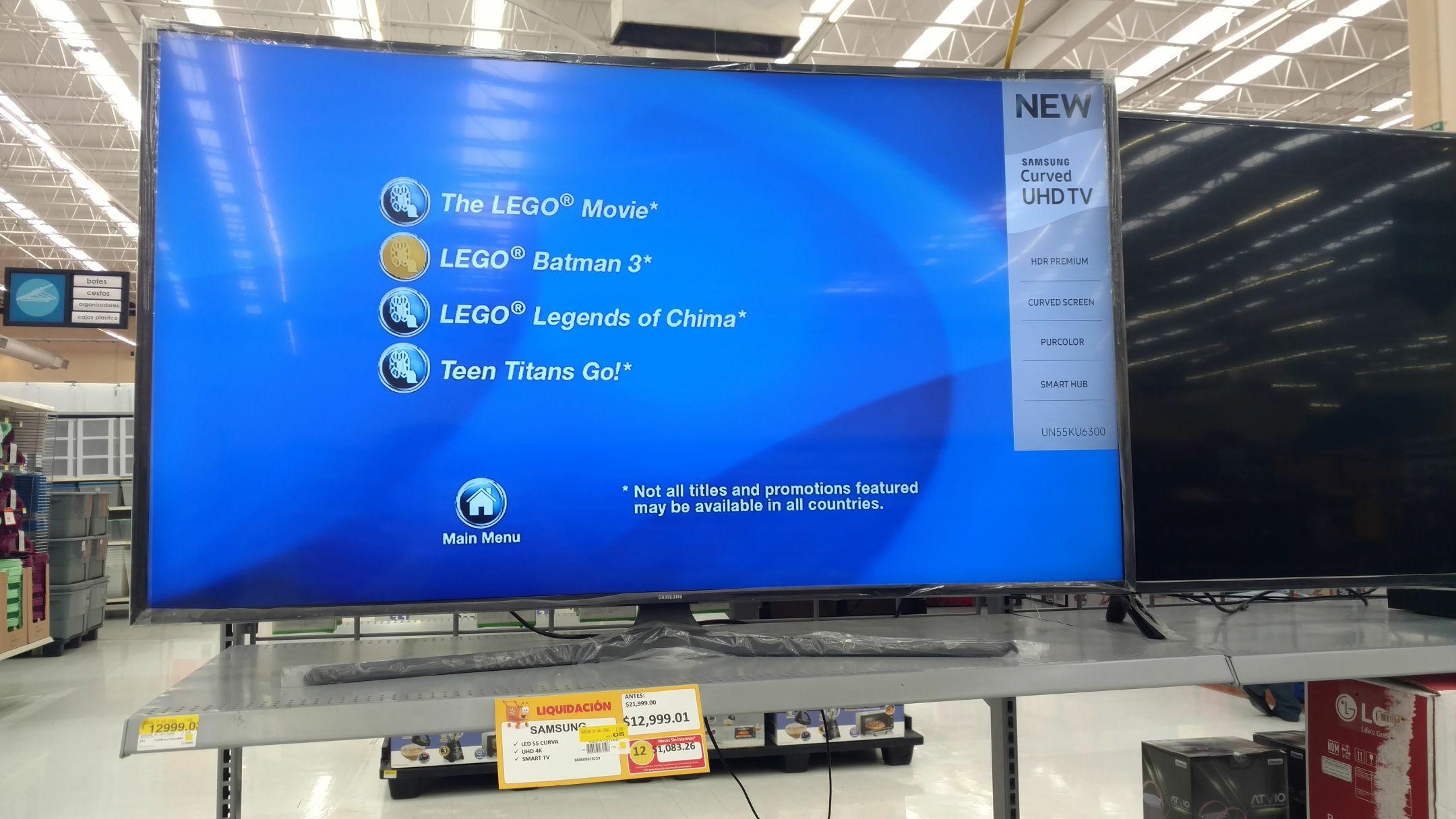 "Walmart Miramontes CdMx: pantalla Samsung 55"" 4k"