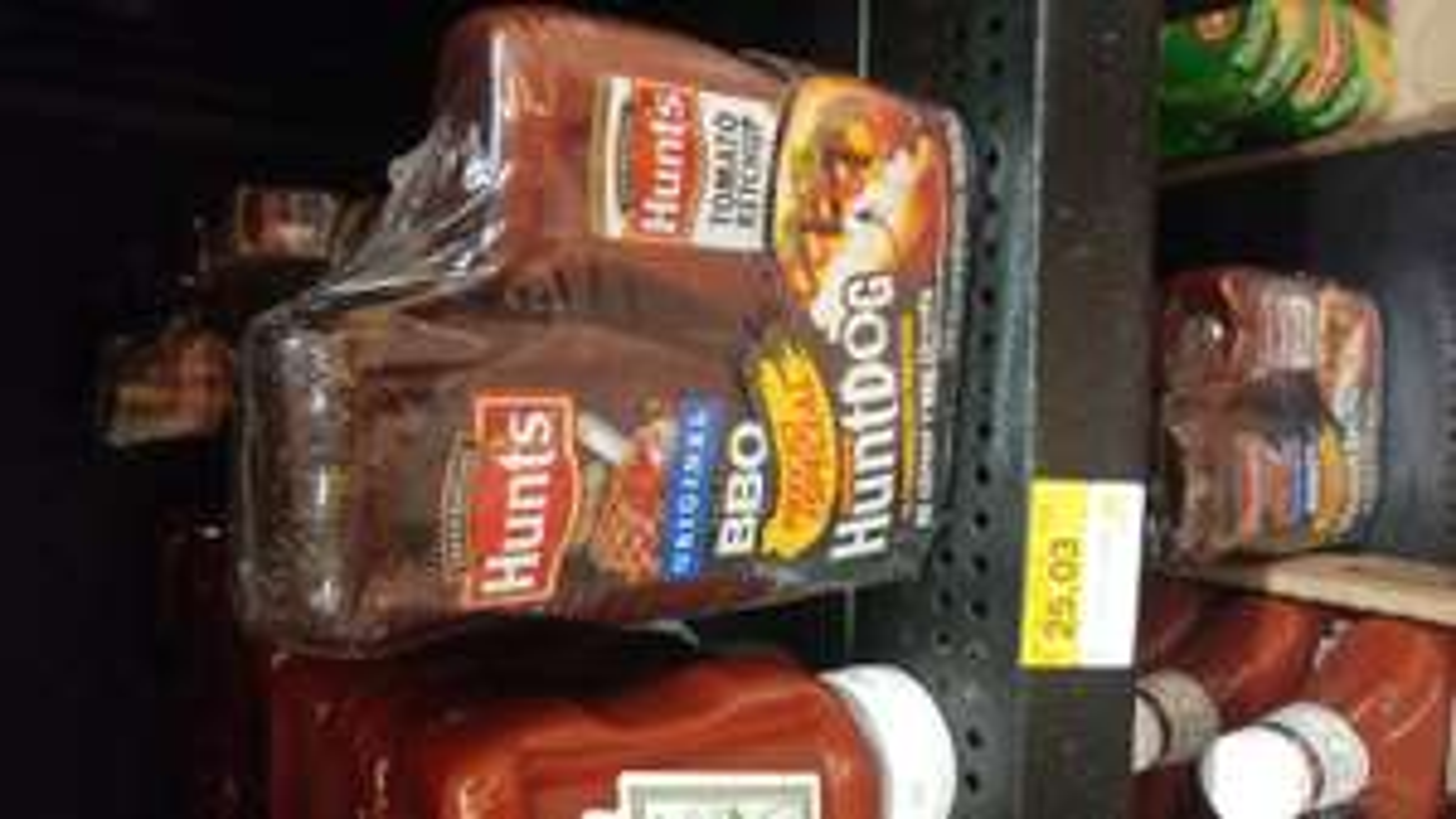 Walmart: hunts BBQ y Catsup a $25.03