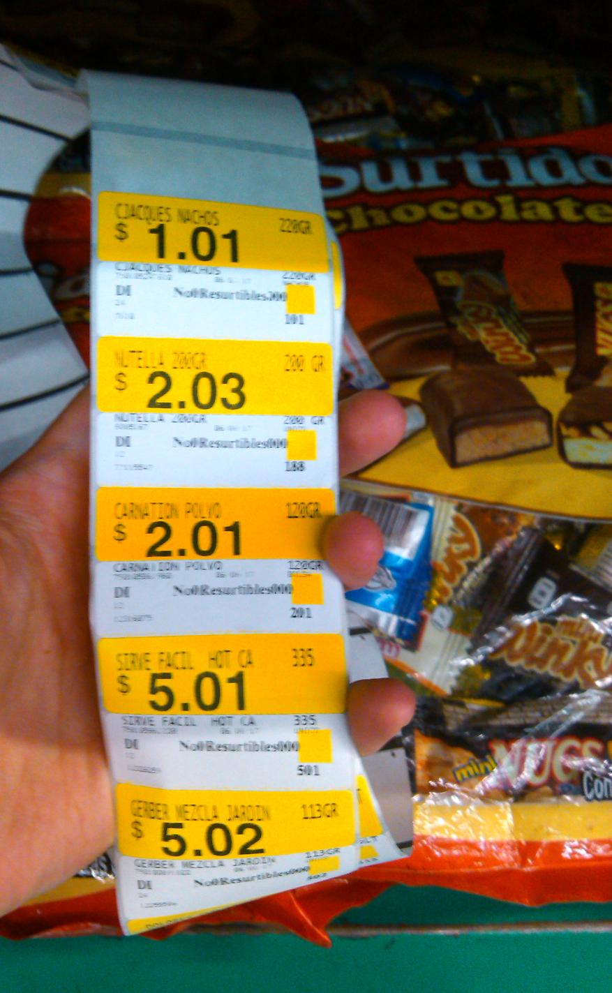 Bodega Aurrerá: nutella 200gr a $2.03