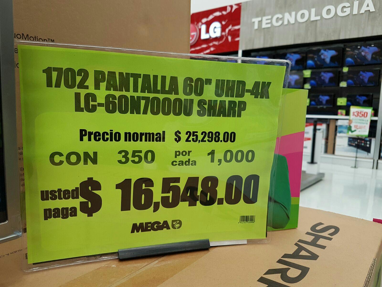 """Mega Xalapa: Tv Sharp 4k 60"""". Volvieron lo descuentos hasta el 4 de julio"""