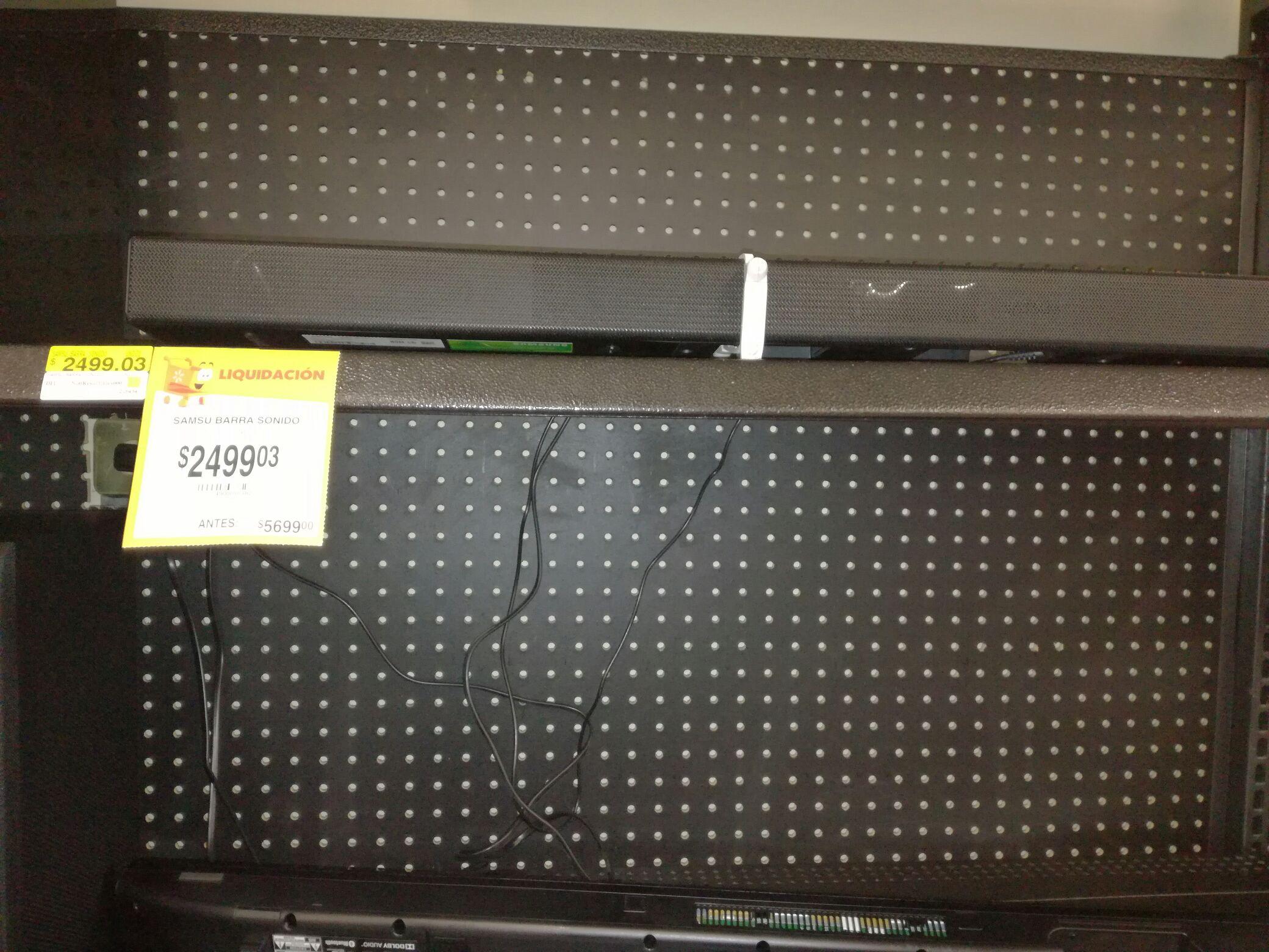 Walmart: Barra de sonido Samsung a $2,499.03