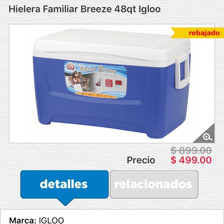 HEB online: Hielera igloo island breeze 48 qt