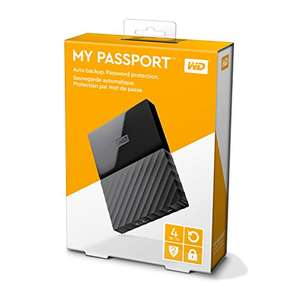 Amazon: Disco duro de 4TB portatil Marca WD en color negro