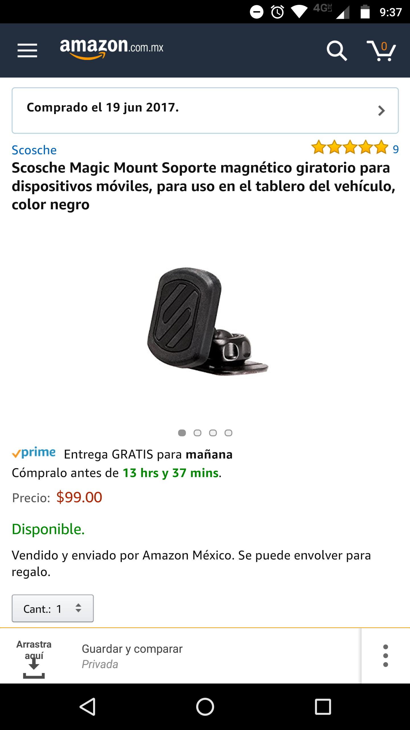 Amazon: Soporte Scosche para celular