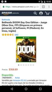 Amazon: Doom para xbox One (importacion)