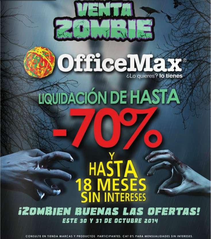 Officemax: liquidiación con hasta 70% de descuento